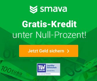 Kredit bei Smava mit Minus 5 %