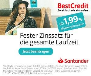 Bestpreis Garantie beim Santander Kredit